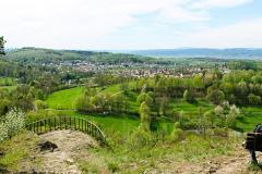 Schloss Altenstein - Blick vom Morgentor Plateau auf Bad Liebenstein