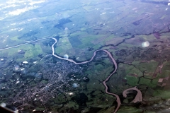 Rio Jacuí bei Cochoeira do Sul, Brasilein