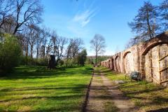 Schlosspark Bendeleben - westliche Mauer
