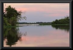 Sonnenuntergang am Lago Janauaca