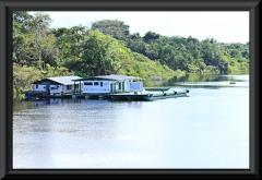 Der Kontrollpunkt der IBAMA nahe der Mündung des Rio Jau in den Rio Negro.