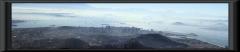 Blick vom Corcovado über Rio - im Hintergrund die Rio-Niteroi-Brücke (13290 m lang)