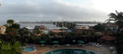 Blick auf den Rio Anil bei Flut
