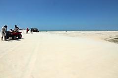 Snowboadfahren auf Sand
