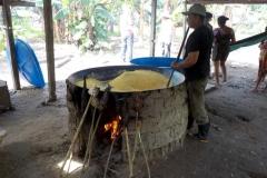 Herstellung von Maniokmehl