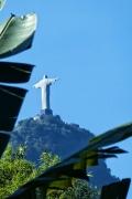 Blick zur Christusstatue