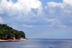 Rio Negro - Blick zurück nach Manaus