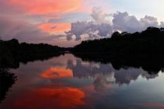 Abend am Rio Carabinani