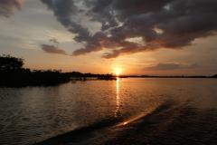 Sonnenuntergang am Rio Negro
