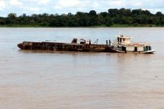 Sandgewinnung am Rio Solimões