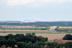 Blick von der Mühlburg zu den Hörselbergen