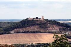 Blick von der Mühlburg zur Burg Gleichen