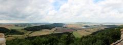 Blick von der Wachsenburg zur Mühlburg
