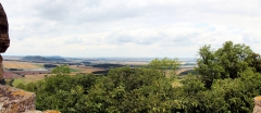 Blick von der Wachsenburg nach Nordwesten