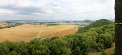 Blick vom Bergfried der Mühlburg zur Wachsenburg