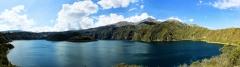 Laguna de Cuicocha und Vulkan Cotacachi