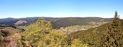 Blick vom Großen Hermannstein auf Manebach