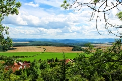 Blick über die Ilm-Saale-Platte (Süden)