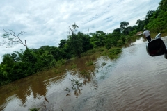 Überschwemmte Straße bei San Carlos