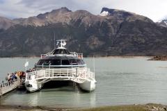 Katamaran zum Perito Moreno Gletscher