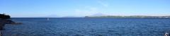 Lago Llanquihue, dahinter die Vulkane Osorno und Calbuco