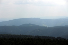 Schneekopf: Blick zum Kickelhahn