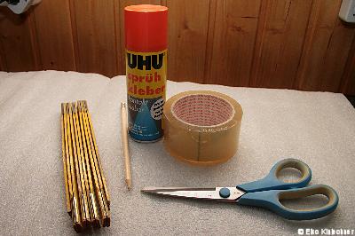 Die Werkzeuge zur Isolierung des Aquariums