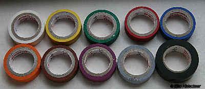 Isolierband in verschiedenen Farben