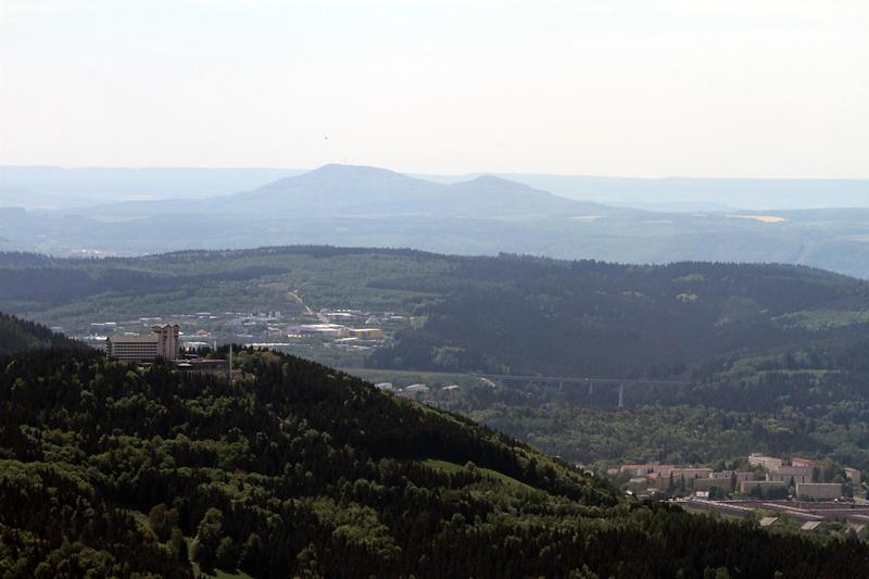 Blick vom Großen Beerberg auf Suhl