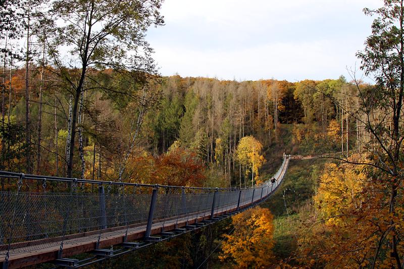 Hohe Schrecke - Hängeseilbrücke